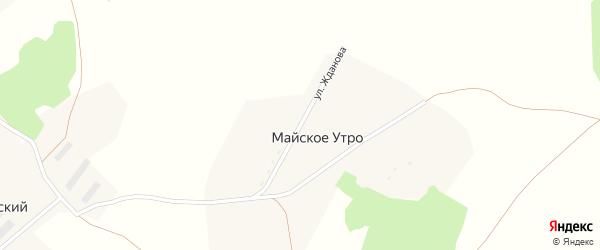 Улица Жданова на карте поселка Майского Утра с номерами домов