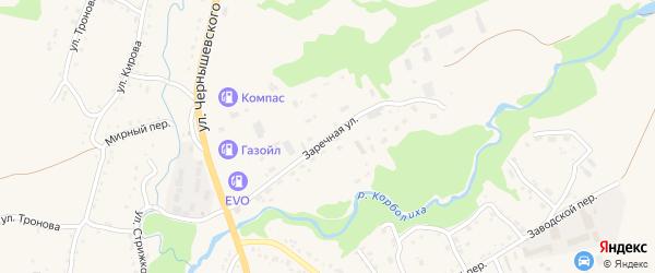 Заречная улица на карте Змеиногорска с номерами домов