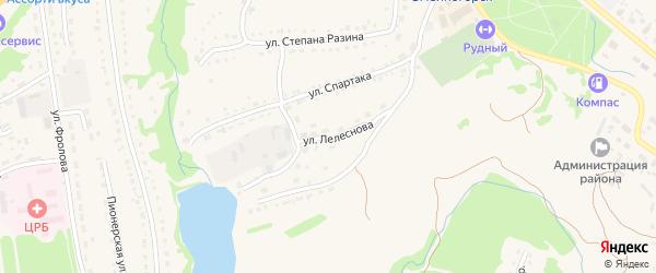 Улица Ф.Лелеснова на карте Змеиногорска с номерами домов