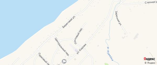Почтовый переулок на карте Боровского села с номерами домов