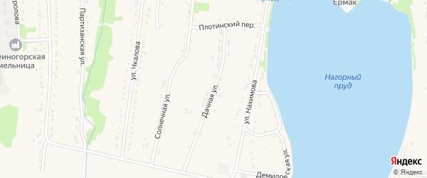 Дачная улица на карте Змеиногорска с номерами домов