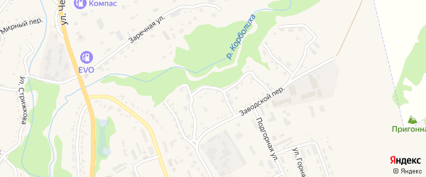 Корболихинский переулок на карте Змеиногорска с номерами домов