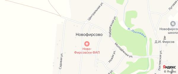 Центральная улица на карте села Новофирсово с номерами домов