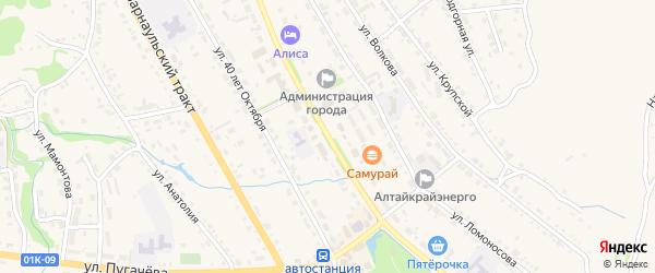 Улица Ленина на карте Змеиногорска с номерами домов