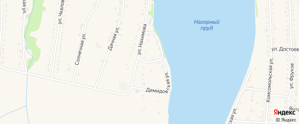 Демидовская улица на карте Змеиногорска с номерами домов