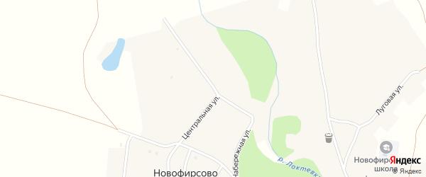 Набережная улица на карте села Новофирсово с номерами домов