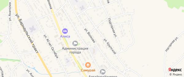 Улица Волкова на карте Змеиногорска с номерами домов
