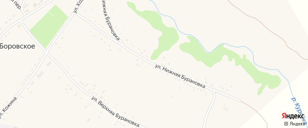 Улица Нижняя Бурановка на карте Боровского села с номерами домов