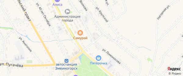 Улица Ломоносова на карте Змеиногорска с номерами домов