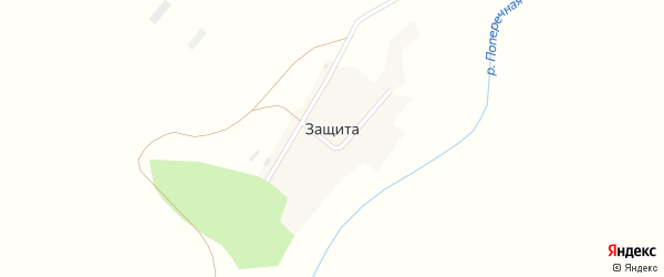 Строительная улица на карте поселка Защиты с номерами домов