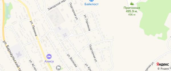 Подгорная улица на карте Змеиногорска с номерами домов