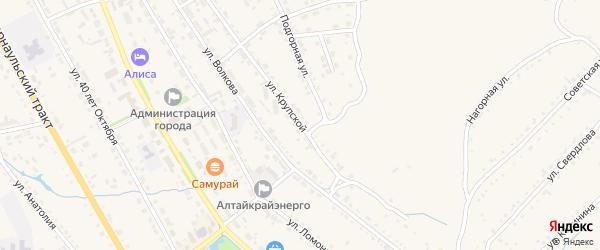 Улица Крупской на карте Змеиногорска с номерами домов