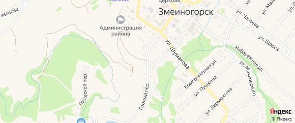 Горный переулок на карте Змеиногорска с номерами домов