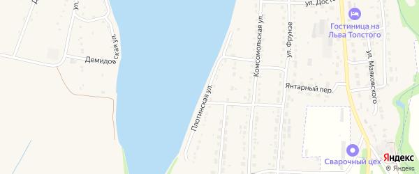 Плотинская улица на карте Змеиногорска с номерами домов