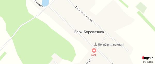 Улица 60 лет Октября на карте поселка Верха-Боровлянки с номерами домов