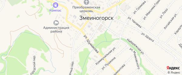 Семипалатинская улица на карте Змеиногорска с номерами домов