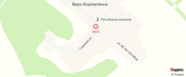 Садовая улица на карте поселка Верха-Боровлянки с номерами домов