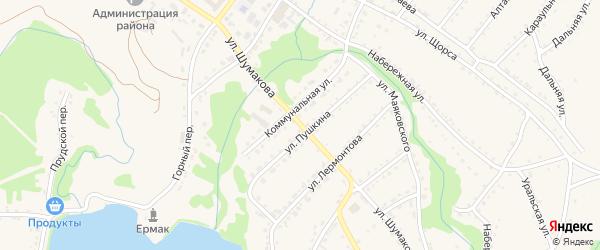 Улица Шумакова на карте Змеиногорска с номерами домов