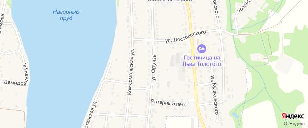 Улица Фрунзе на карте Змеиногорска с номерами домов