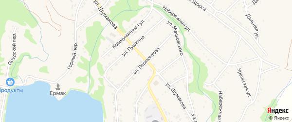 Улица Лермонтова на карте Змеиногорска с номерами домов