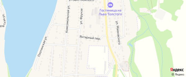 Янтарный переулок на карте Змеиногорска с номерами домов