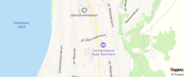 Улица Достоевского на карте Змеиногорска с номерами домов