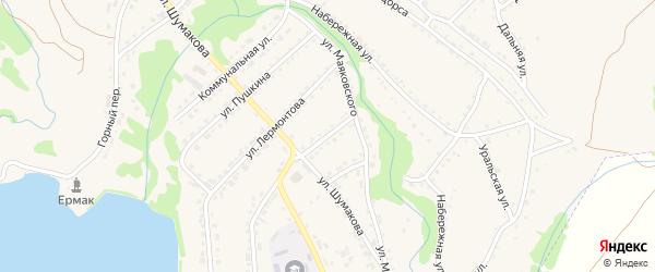 Улица Некрасова на карте Змеиногорска с номерами домов