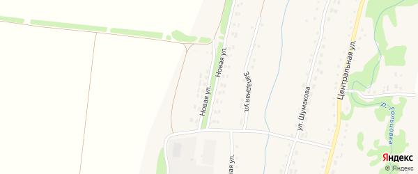 Новая улица на карте села Барановки с номерами домов