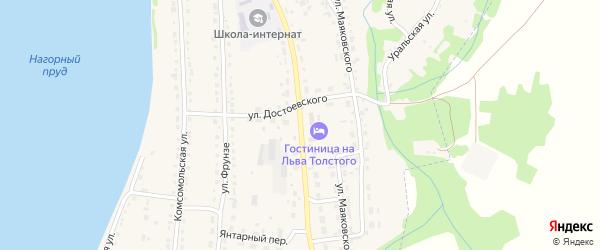 Улица Л.Толстого на карте Змеиногорска с номерами домов