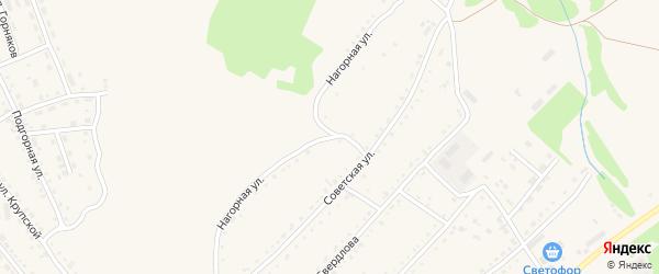 Нагорная улица на карте Змеиногорска с номерами домов