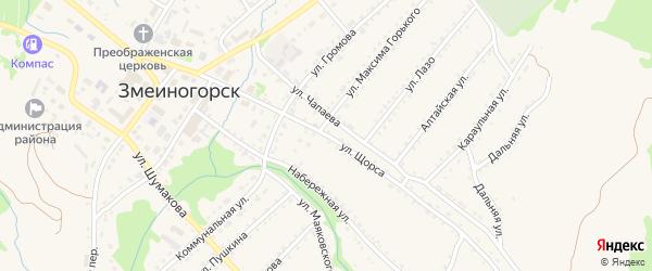 Улица Щорса на карте Змеиногорска с номерами домов
