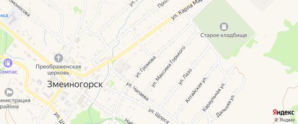 Улица Громова на карте Змеиногорска с номерами домов