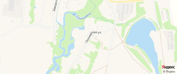 Пионерская улица на карте села Барановки с номерами домов