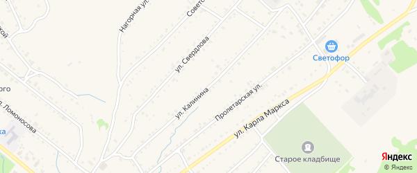 Улица Калинина на карте Змеиногорска с номерами домов