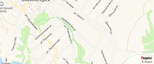 Набережная улица на карте села Лазурки с номерами домов