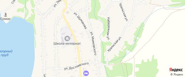 Улица Маяковского на карте Змеиногорска с номерами домов
