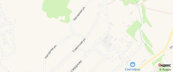 Советская улица на карте села Лазурки с номерами домов
