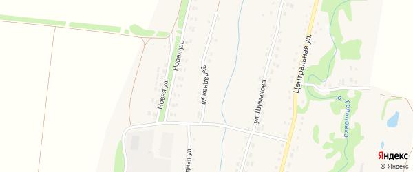 Западная улица на карте села Барановки с номерами домов