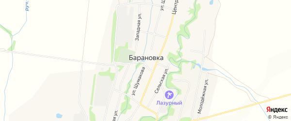 Карта села Барановки в Алтайском крае с улицами и номерами домов