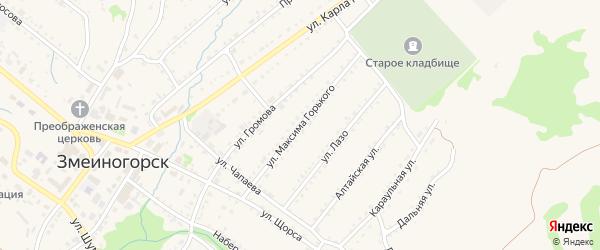 Улица М.Горького на карте Змеиногорска с номерами домов
