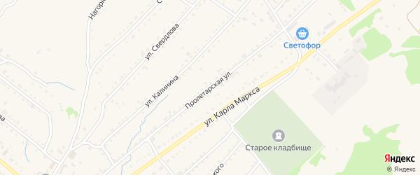 Пролетарская улица на карте Змеиногорска с номерами домов