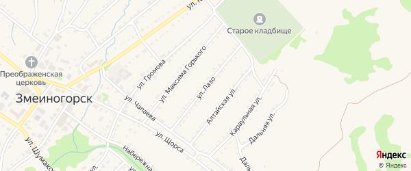 Улица С.Лазо на карте Змеиногорска с номерами домов