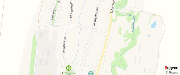 Улица Шумакова на карте села Барановки с номерами домов