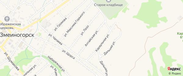Алтайская улица на карте Змеиногорска с номерами домов