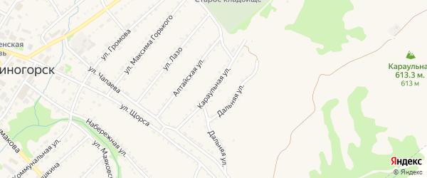 Караульная улица на карте Змеиногорска с номерами домов
