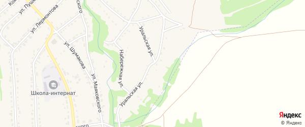 Уральская улица на карте Змеиногорска с номерами домов