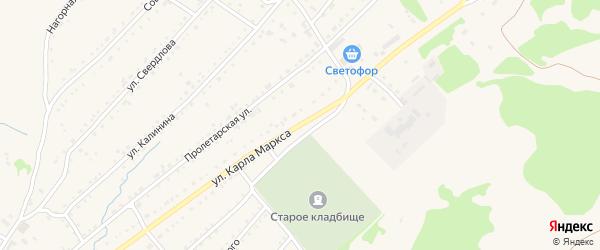 Улица К.Маркса на карте Змеиногорска с номерами домов