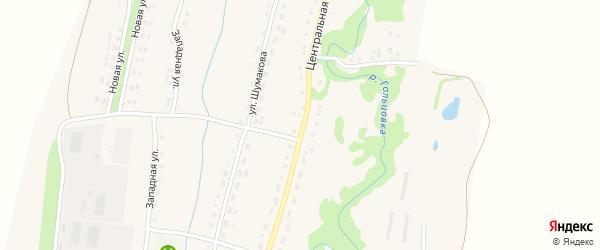 Центральная улица на карте села Барановки с номерами домов