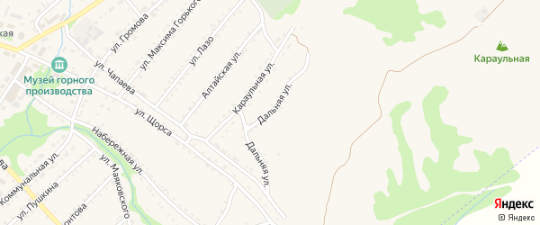 Дальняя улица на карте Змеиногорска с номерами домов