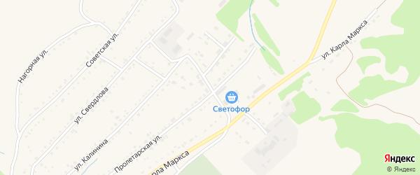 Колыванский переулок на карте Змеиногорска с номерами домов